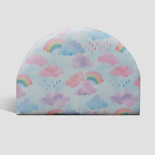Rainbow Curved Upholstered Bedhead