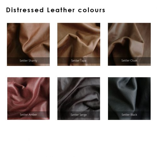 Distressed Leather Upholstered Bedhead | 6 Colours Available